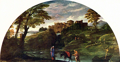 Landscape with the Flight into Egypt Annibale Carracci